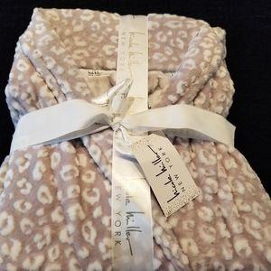 Nicole Miller Lavender Animal Print Robe